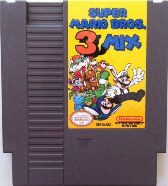 Super Mario Bros 3 Mix Nes Rom Hack Nintendo Usa Ntsc Etsy