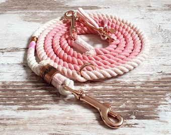 Ombre dog leash *Holi* Love Story Girls - made of cotton rope - selectable in silver, gold or rose gold