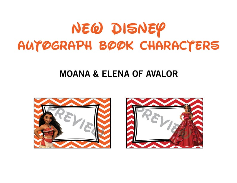 image regarding Printable Autograph Book for Students titled Disney Autograph Guide Printables - Moana Elena of Avalor Basically - Disney People - Disney Worldwide - Princess Printables - Chevron