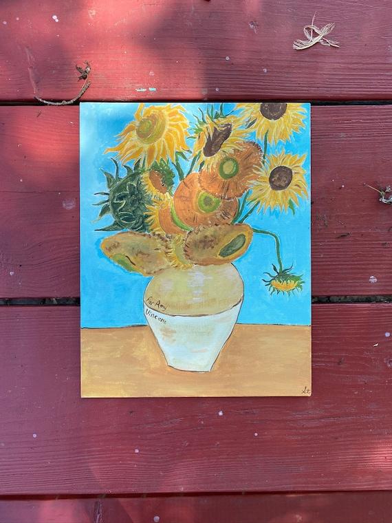 Van Gogh Tournesol Peinture Doctor Who Pour Amy