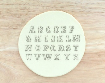 Full A-Z 26 Piece Set Letter | Numbers 0-9 10 Piece Cookie Cutters | Uppercase Alphabet Carnival Circus Style Letters Cookie Cutter