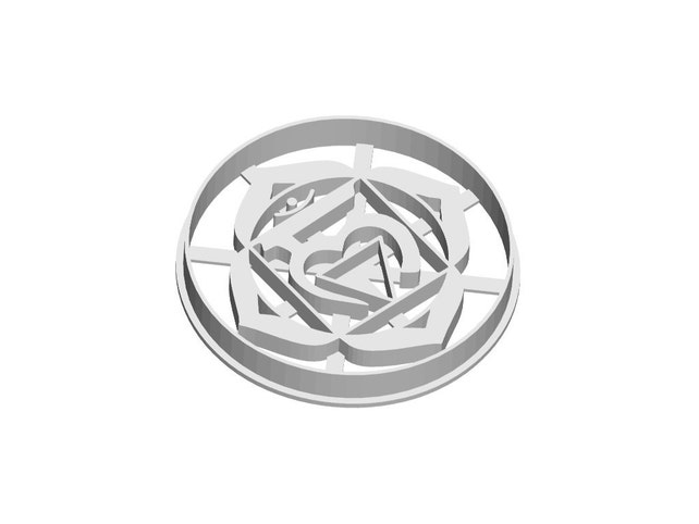 Root Chakra Cookie Cutter 1 First Chakra Symbol Cookie Etsy