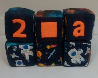 Baby Boys Outer Space Block Set