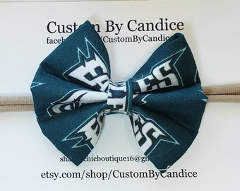 39af47eb0724 Philadelphia Eagles fabric bow, Philly Pride, Eagles bow, fabric bow
