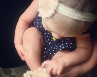Barefoot Baby Sandals & Headband