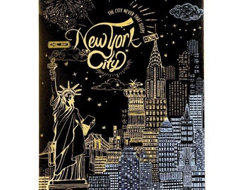 On Sale Scratch Night View - New York City DIY Scratch Art Paper for Gift (Free Pan with any 2 orders)