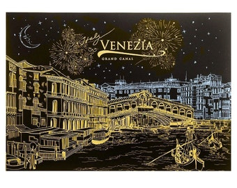 On Sale - DIY Scratch Night View -- Venezia (Free Pan with any 2 orders), DIY Scratch Art Paper for Gift