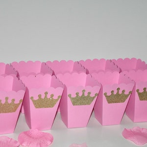 Royal Princess Party Food Tent Cards Labels for Candy Tables Dessert Tables Pink /& Silver w Crown Candy Buffets