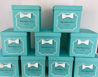 831f35dde1 Blue Box Centerpiece w/ Personalized Sign Robins Egg Blue for Baby Showers,  Bridal Showers, Sweet 16, Weddings, Birthdays Money or Card Box