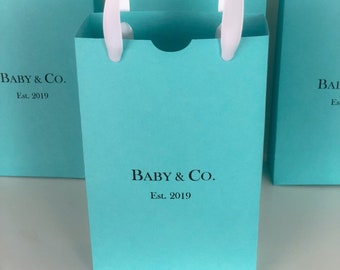 178d2e13c1e Personalized Robins Egg Blue Favor Bags Baby & Co. Bride Co. Sweet 16  Birthdays, Engagements, Weddings Any Name Can Be Added Set of 10