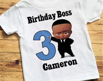 749feda5a2a2 Boss Boy African American Birthday Tee Shirt or Bodysuit  Bodysuit size  6-24 Month Tee 2T and Up