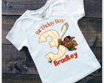 Moana Birthday Shirt Moana Maui Boys Birthday Shirt Personalized