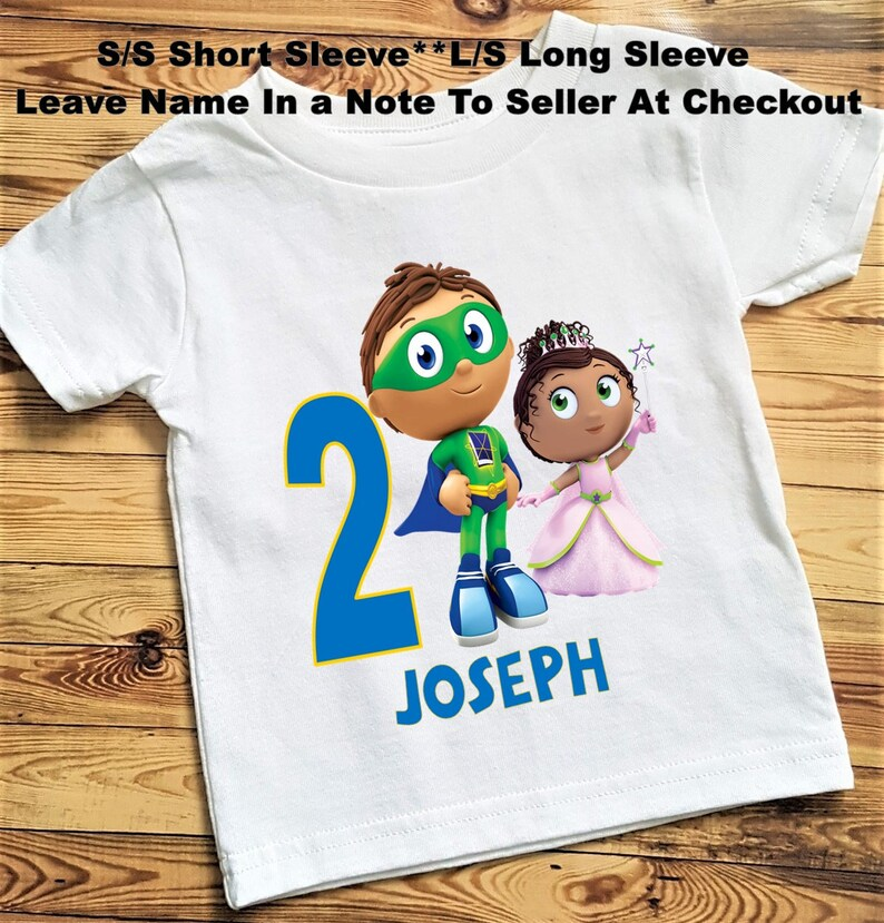 5031698f6894b Super Why And Princess Presto Birthday Tee Shirt or Bodysuit; Bodysuit size  6-24 Month;Tee 2T and Up