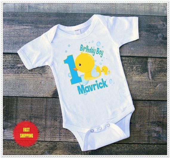 Boys Duck Birthday Tee Shirt Or Bodysuit Size 6 24