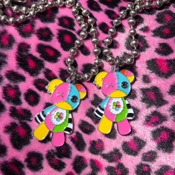 DEDGRL6 X VIRTUALPET Teddy Bear Charm Necklace