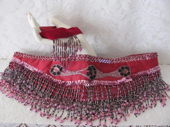 BELLY DANCE BELT, Belly Dance Costume, Beaded Gyps