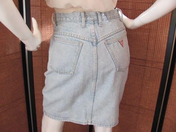 GUESS MINI SKIRT, High Wasted Denim Skirt, 1980's