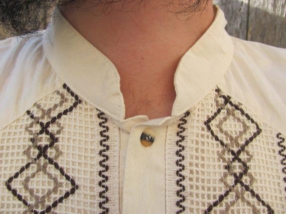MEN'S CABANA SHIRT, Embroidered Men's Wedding Shir