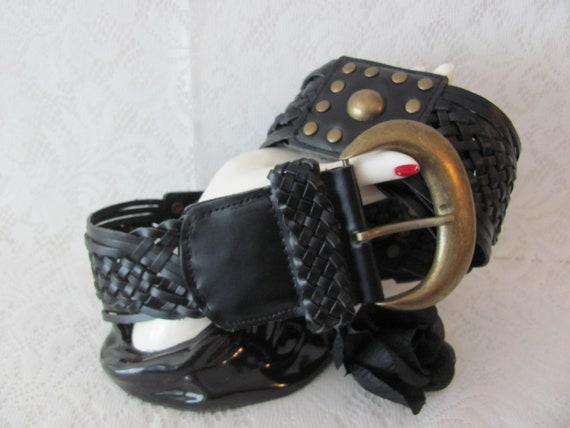MEN'S LEATHER BELT, Biker Belt, Goth Belt, Pirate