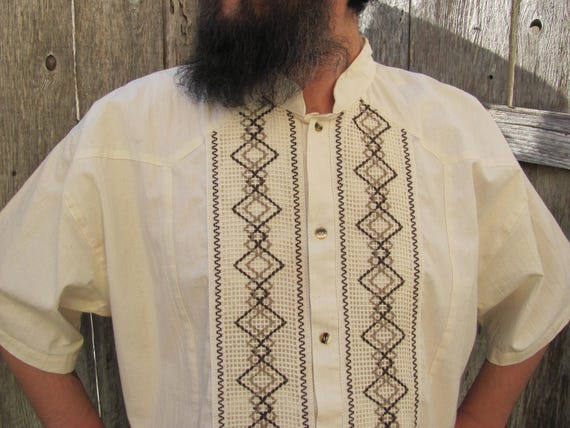 MEN'S CABANA SHIRT, Embroidered Men's Wedding Shir