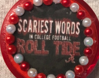 """University of Alabama """"The Scariest Word in College Football Roll Tide"""" Retractable Badge/ ID Holder"""
