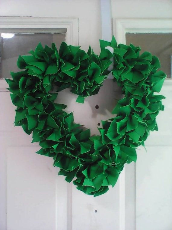 St Patricks Day Heart Wreath