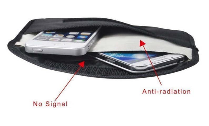 Radio-Frequency Identification blocking cell phone pouch for guarding your  privacy! Stop remote cell phone spying, ID theft, rfid hacking