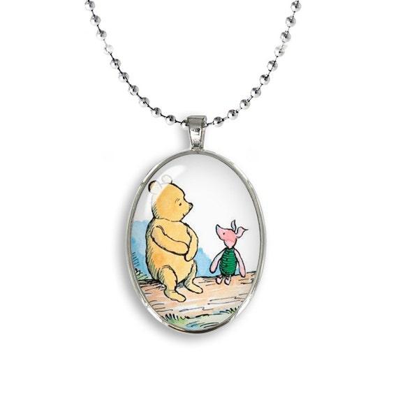 Winnie the Pooh and Piglet Oval Pendant Winnie Piglet ...
