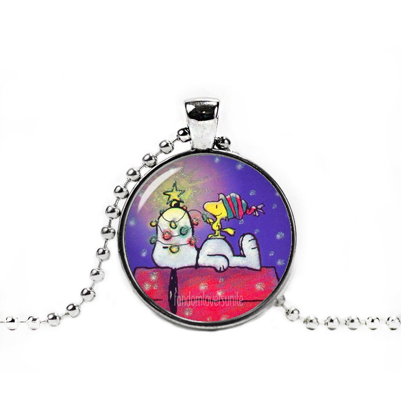 Snoopy Woodstock New Year Necklace Pendant Snoopy Jewelry Etsy