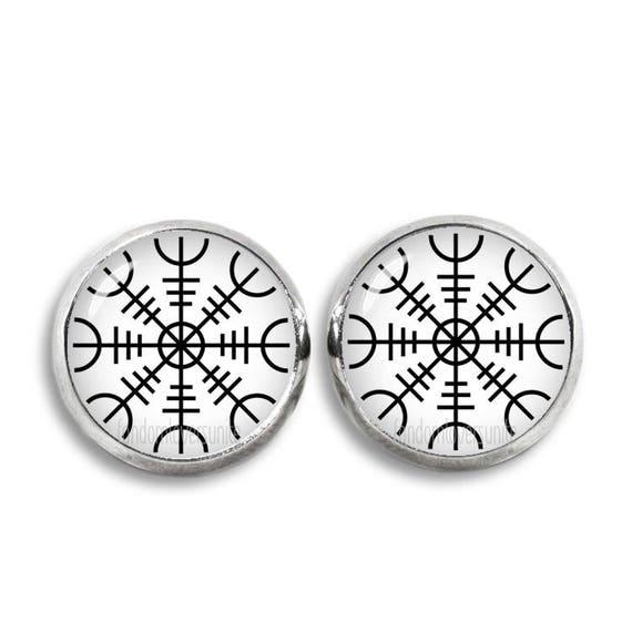 Viking Symbol Of Protection Earrings Vikings Stud Earrings Etsy