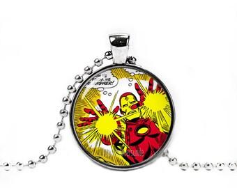 Iron Man Necklace Pendant Iron Man Necklace Fandom Jewelry Geeky Jewelry