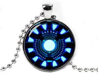 Arc Reactor Necklace Pendant Iron Man Necklace Fandom Jewelry Geeky Jewelry