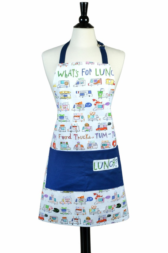 A Kitchen Is Launching An Express Lunch Service: Womens Kitchen Apron Canvas Chef Whats For Lunch Large