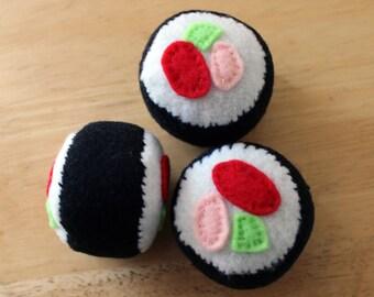 Felt Sushi Catnip Toy