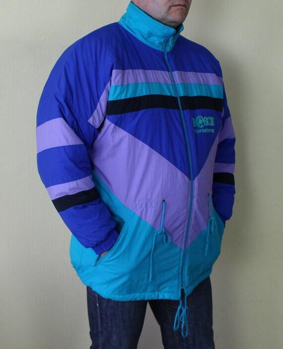 90s Puffy Purple Coat Vintage Jacket