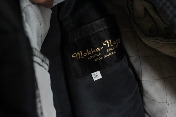 Mens Leather Jacket Black Leather Military Coat B… - image 10