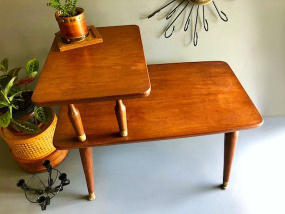 Mid Century Step up End Table