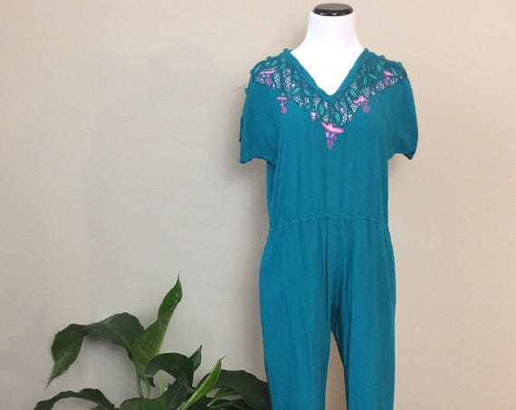 vintage embroidered jumpsuit