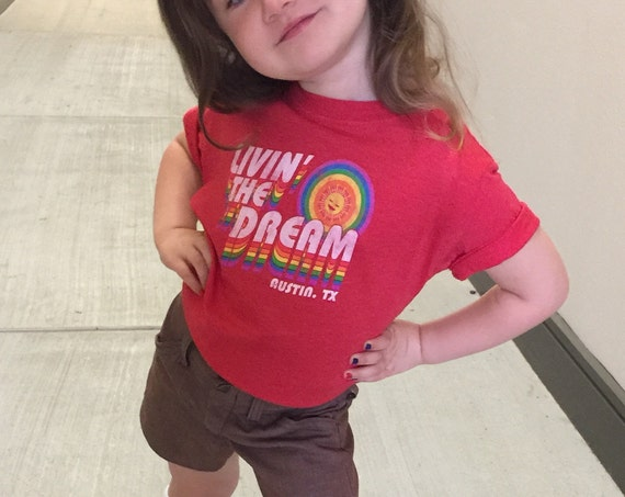 Livin' the Dream - Toddler Tee (Pride Socks)