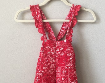 vintage baby girl overalls
