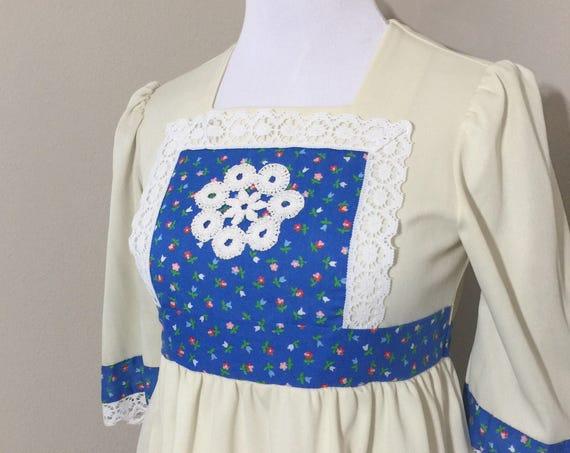 vintage boho mini dress - XS/S