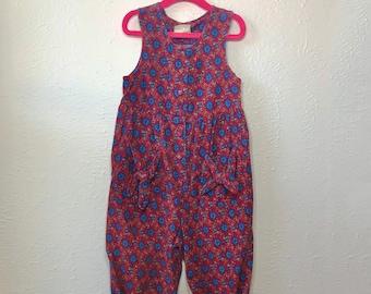 vintage girls romper - vintage toddler jumpsuit - vintage girls jumper - Laura Ashley