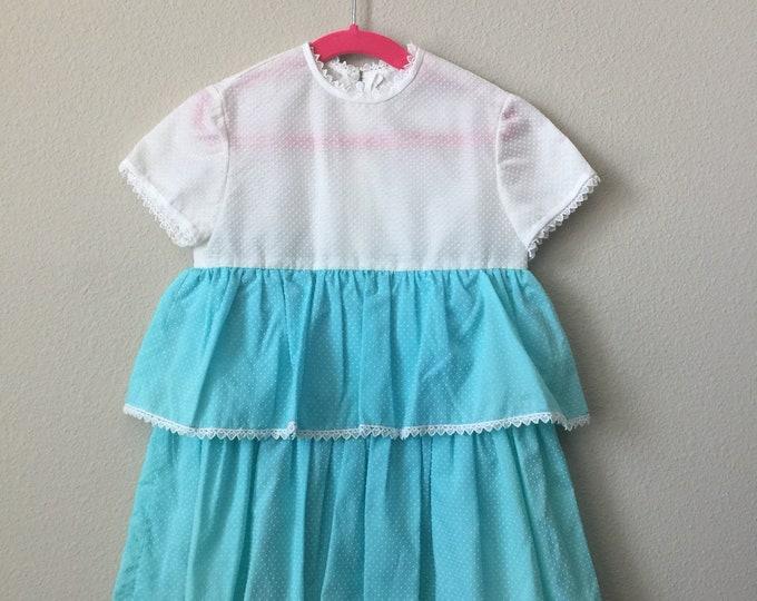 vintage girls ruffle dress