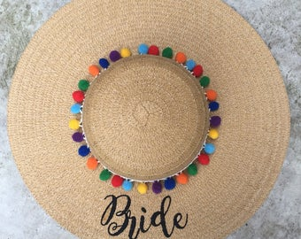 Floppy Hat Embroidered Beach Hat