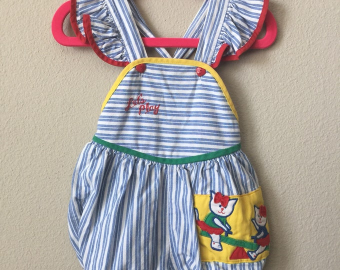 vintage baby sunsuit