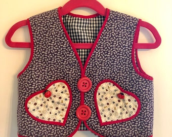 girls vintage quilt vest