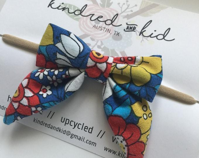 vintage sailor bow (headband or clip style)