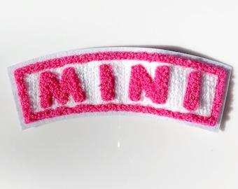 Mini chenille patch