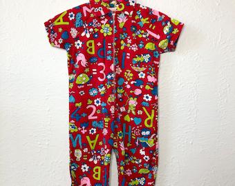 vintage baby coveralls - vintage children's jumpsuit - baby one piece