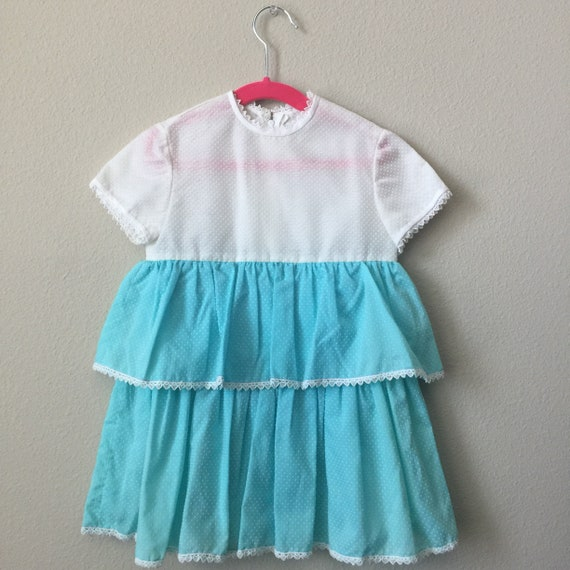 vintage girls ruffle dress
